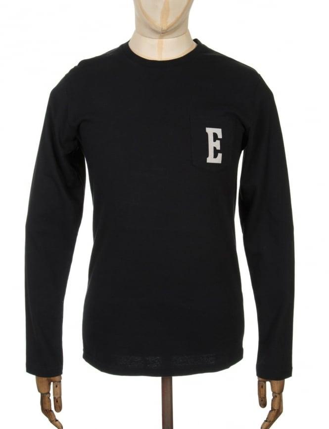 Edwin Jeans L/S Logo T-shirt - Black