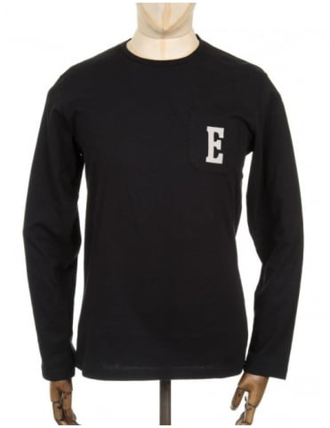 Edwin Jeans L/S Pocket Logo T-shirt - Black