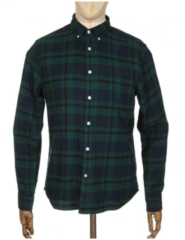 Edwin Jeans L/S Standard Shirt - Black Watch Tartan