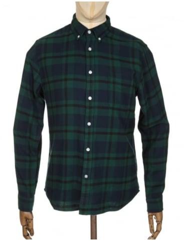 Edwin Jeans L/S Standard Shirt - Black Watch Tartan