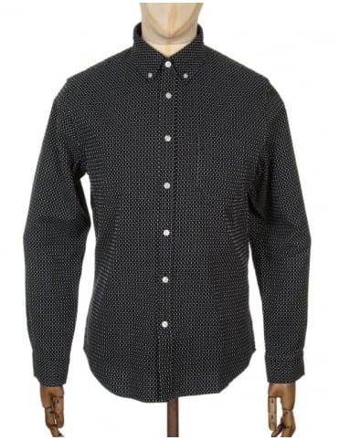 Edwin Jeans L/S Standard Shirt - Black/White