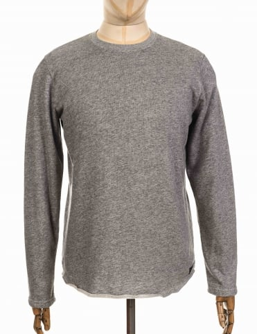L/S Terry T-shirt - Heather Grey