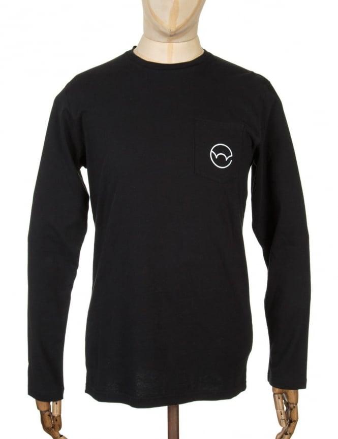 Edwin Jeans L/S Type 4 Pocket T-shirt - Black