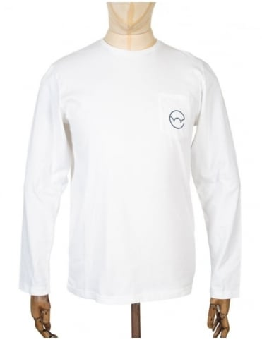 Edwin Jeans L/S Type 4 Pocket T-shirt - White