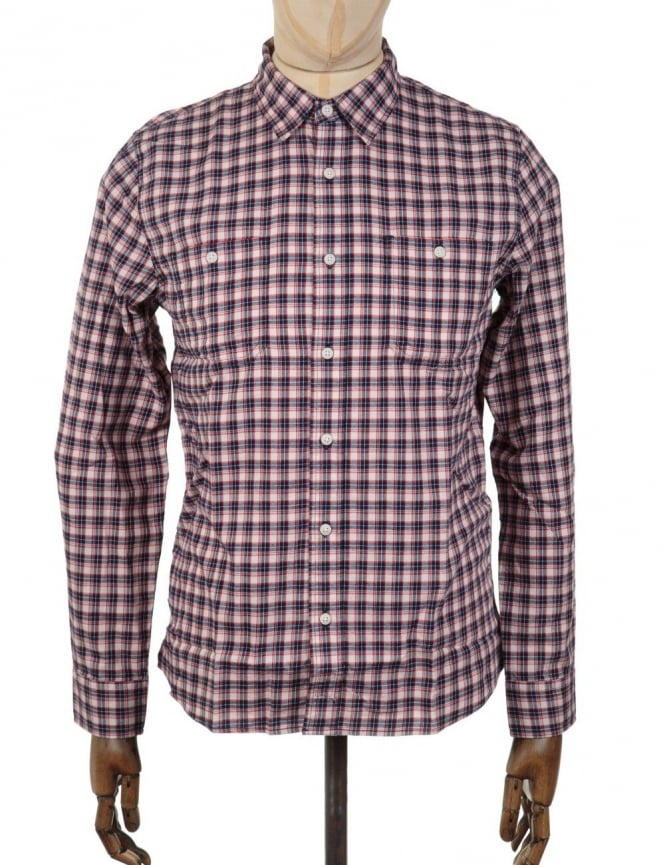 Edwin Jeans Labour Shirt - Off White/Navy