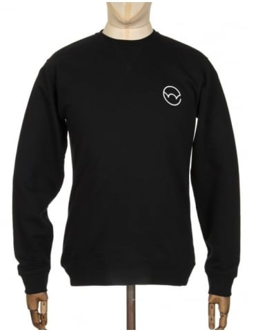 Edwin Jeans Logo Type 2 Sweatshirt - Black