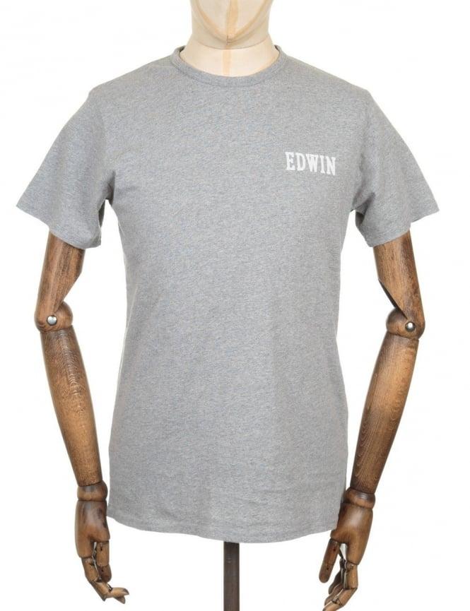 Edwin Jeans Logo Type 4 T-shirt - Marl Grey
