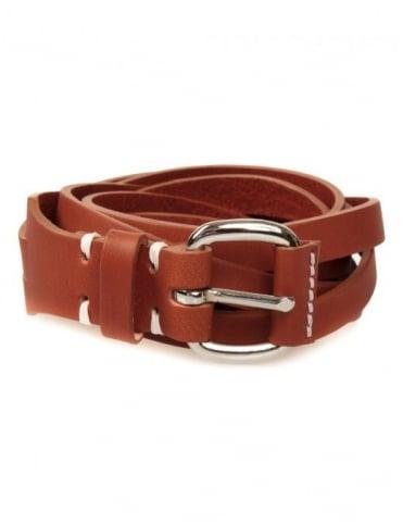 Edwin Jeans Meriweather Fine Belt Leather - Brown