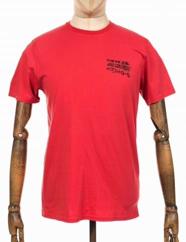 Mind Control Tee - Washed Red