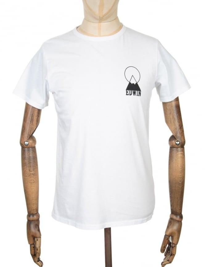 Edwin Jeans Mt Fuji Logo T-shirt - White