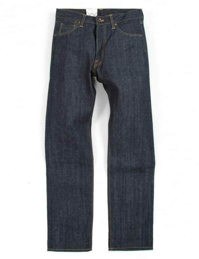 Edwin Jeans Nashville Straight Leg Red Listed Selvedge Denim - Unwashed