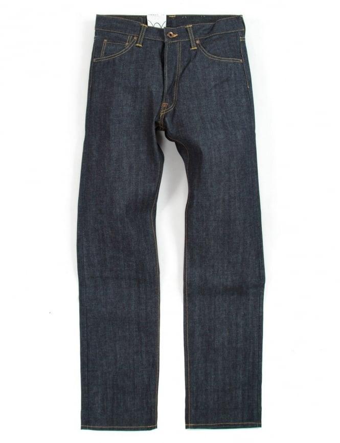 Edwin Jeans Nashville Straight Leg Red Listed Selvedge Denim - Unwashed