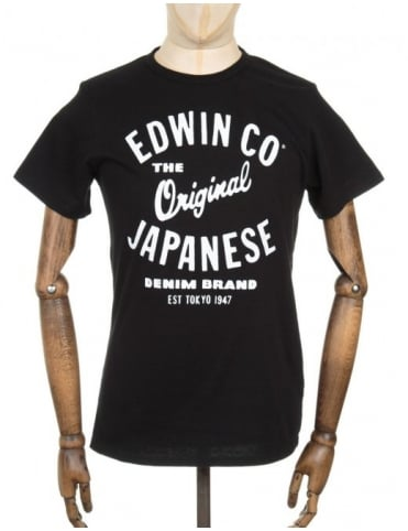 Edwin Jeans Original T-shirt - Black