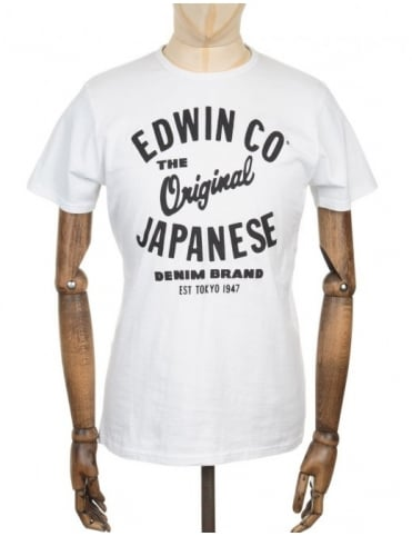 Edwin Jeans Original T-shirt - White