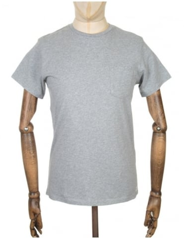 Edwin Jeans Pocket T-shirt - Grey Marl