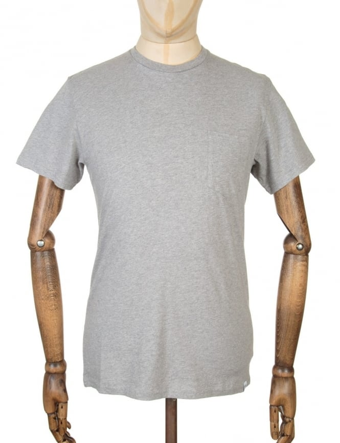 Edwin Jeans Pocket T-shirt - Grey Marl