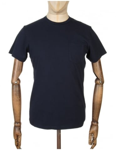 Edwin Jeans Pocket T-shirt - Navy