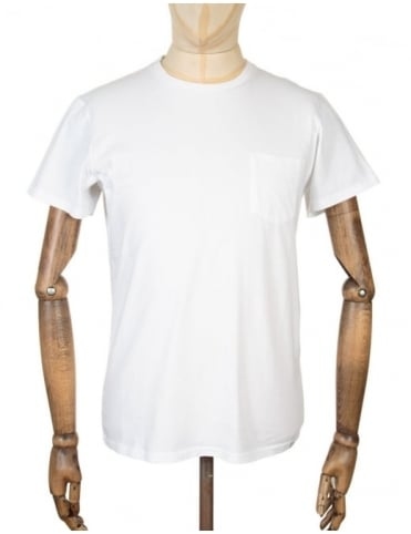 Edwin Jeans Pocket T-shirt - White