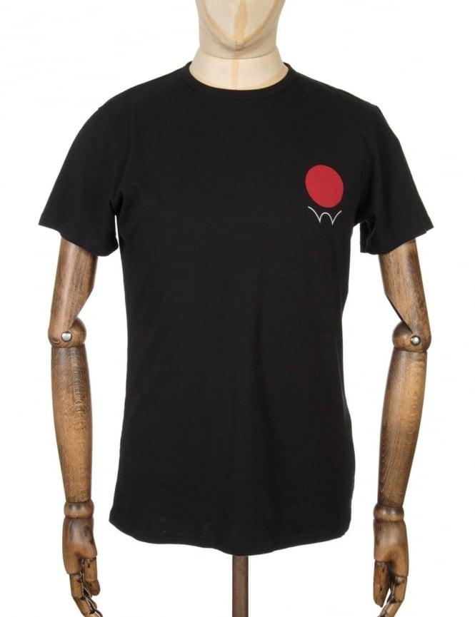Edwin Jeans Red Dot 2 Logo T-shirt - Black