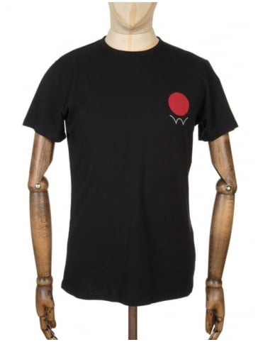 Edwin Jeans Red Dot 2 Logo T-shirt - Black