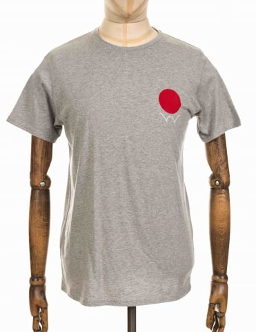 Red Dot 2 Logo T-shirt - Heather Grey