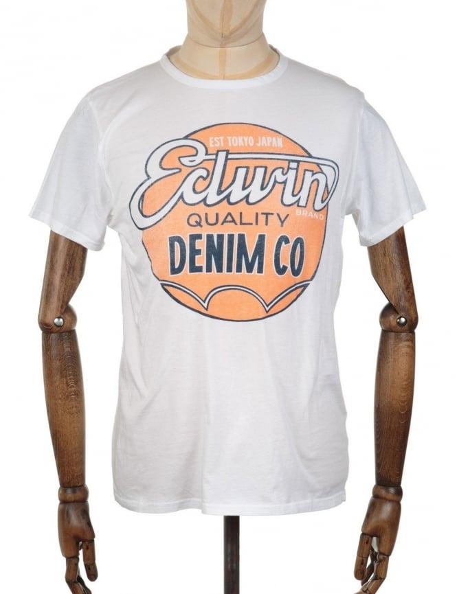 Edwin Jeans Red Dot T-shirt - White