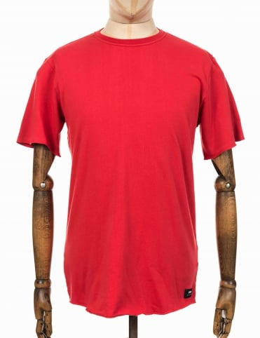 S/S Terry Tee - Washed Red