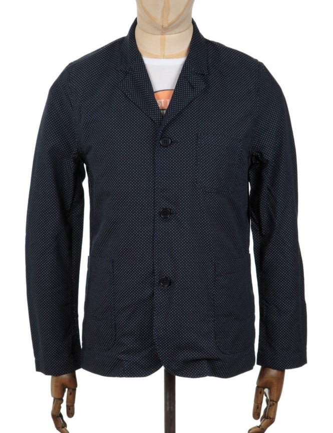 Edwin Jeans Simple Post Blazer - Polka Dot Indigo Weave