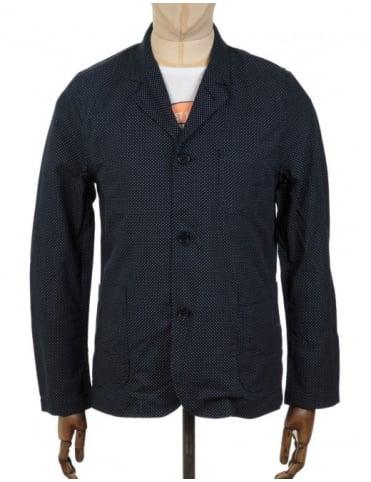 Edwin Jeans Simple Post Blazer - Polka Dot Indigo Weave