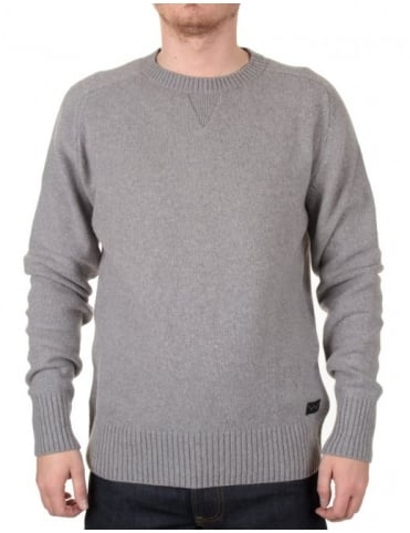 Edwin Jeans Slit Crewneck Knit - Heather Grey
