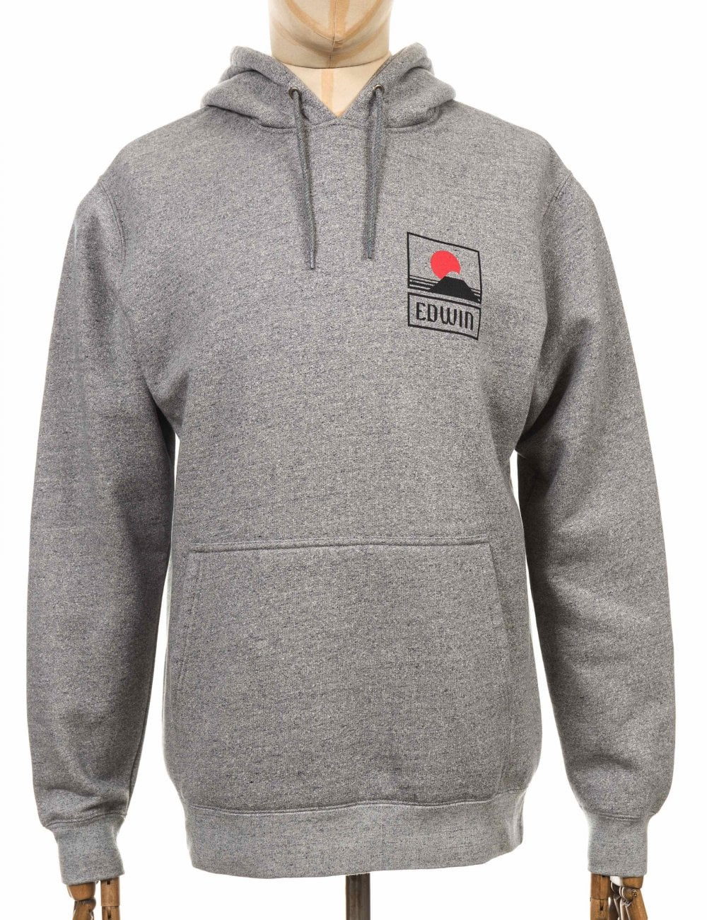 Sunset On Mt Fuji Hooded Sweatshirt Grey Heather