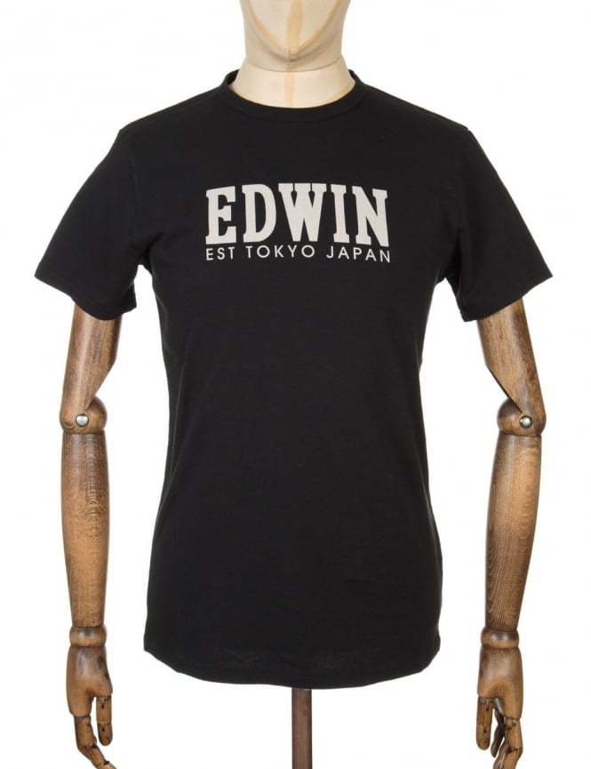 Edwin Jeans Type 2 Logo T-shirt - Black