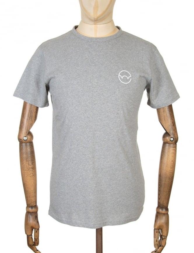 Edwin Jeans Type 4 Logo T-shirt - Grey Marl