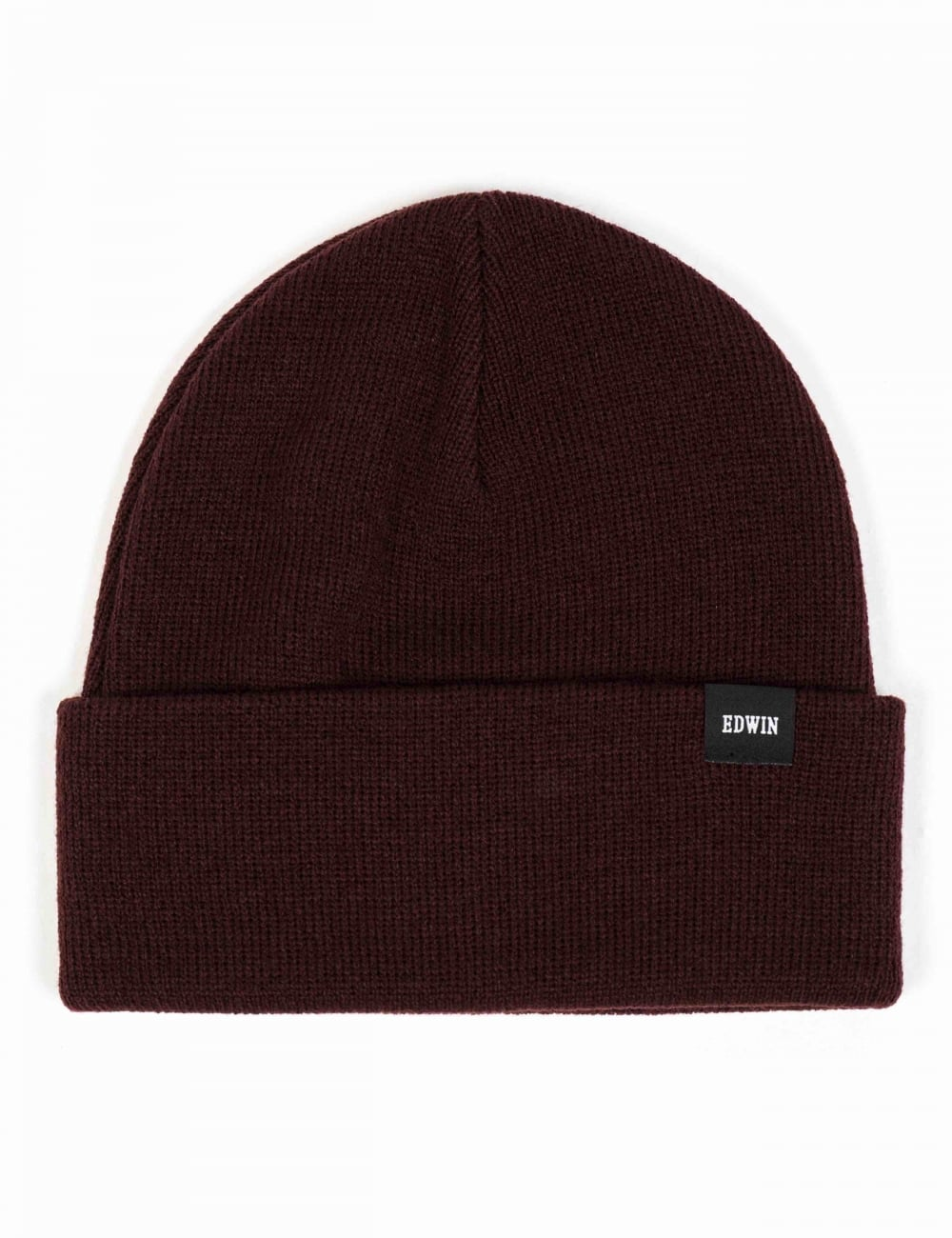 53462633a0c Edwin Jeans Watch Beanie Hat - Cordovan - Accessories from Fat ...