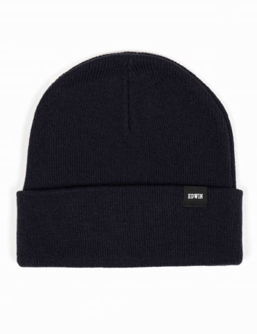 Watch Beanie Hat - Navy
