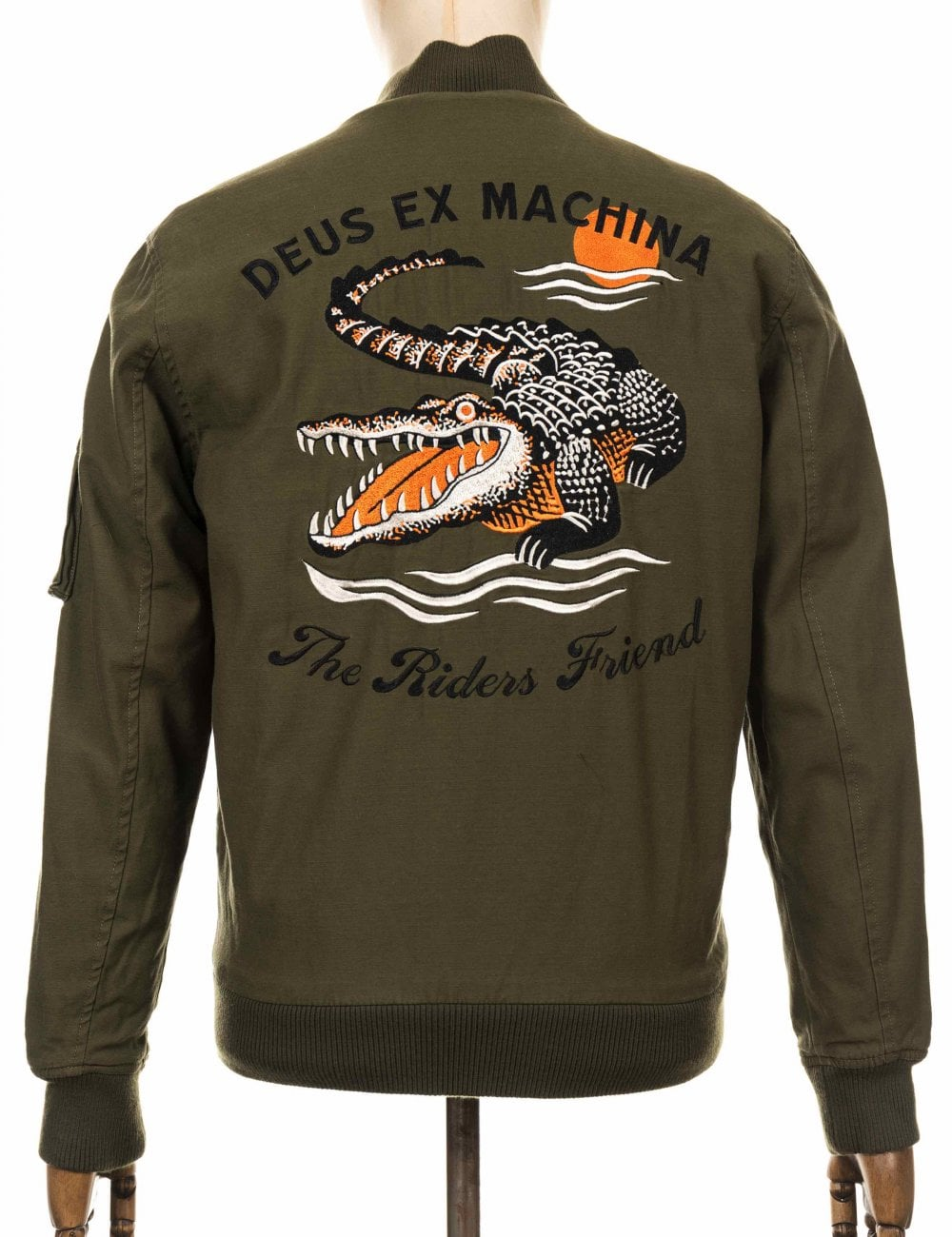 28c8feb51 Elias Croc Bomber Jacket - Pine Orange