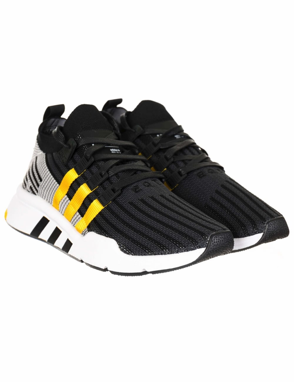 07d751cafd0 Adidas Originals EQT Support Mid ADV Primeknit Trainers - Core Black ...