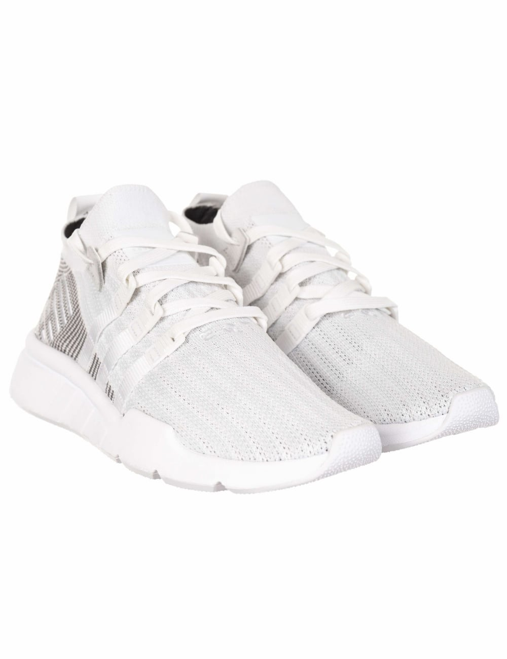 Adidas Originals EQT Support Mid ADV Primeknit Trainers - Mid White Grey -  Footwear from Fat Buddha Store UK 80381cc2e5b5