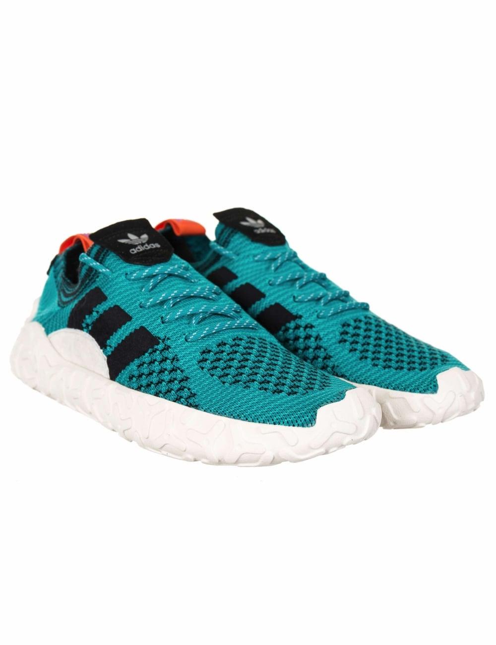 montar Modales mercenario  Adidas Originals F/22 Primeknit Trainers - Shock Green/Core Black - Footwear  from Fat Buddha Store UK