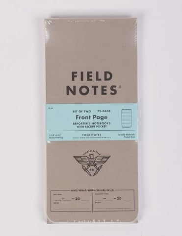 Front Page Reporters Notebook (2 Pack) - Ruled Paper