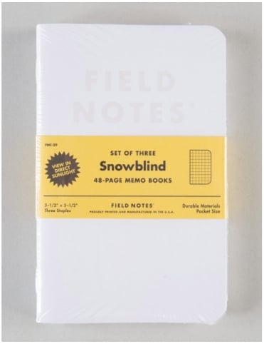 Field Notes Snowblind Memo Books (3 Pack)