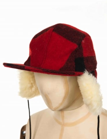 Double Mackinaw Cap - Red/Black
