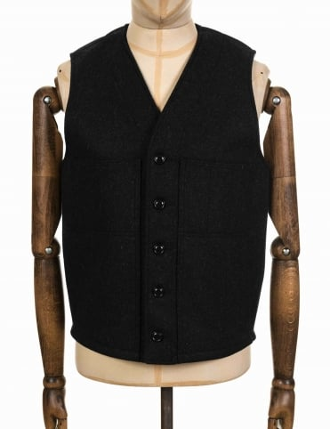 Mackinaw Wool Vest - Charcoal