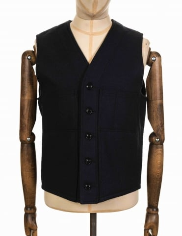 Mackinaw Wool Vest - Navy
