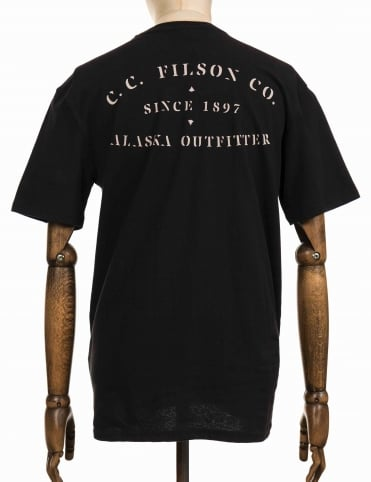 S/S Outfitter Graphic T-Shirt - Faded Black