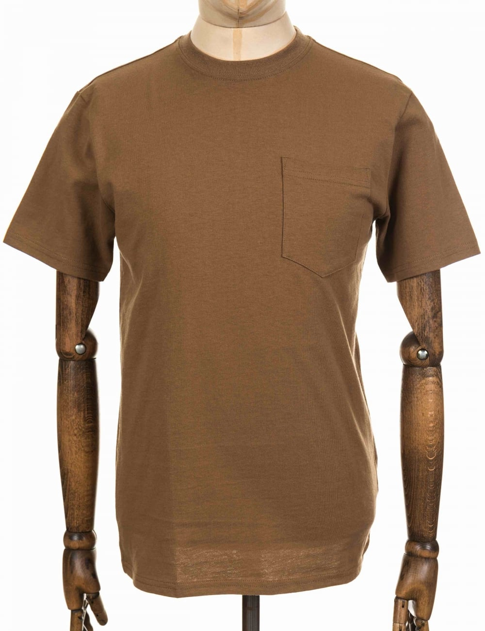 S Outer One Pocket Tee Rugged Tan