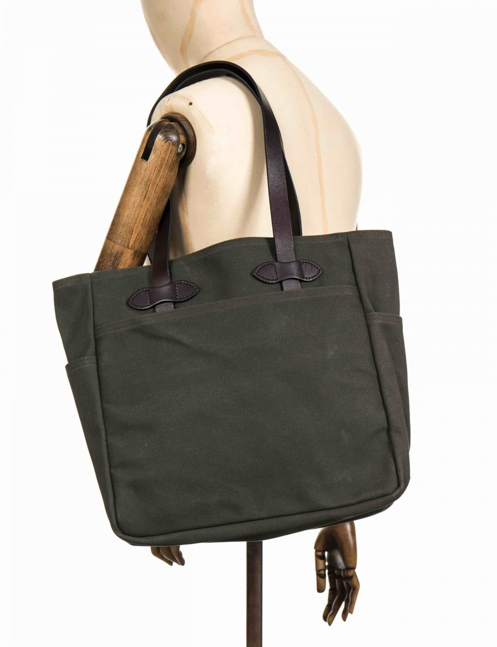 cd1a3feb6f8 Tote Bag Without Zipper - Otter Green