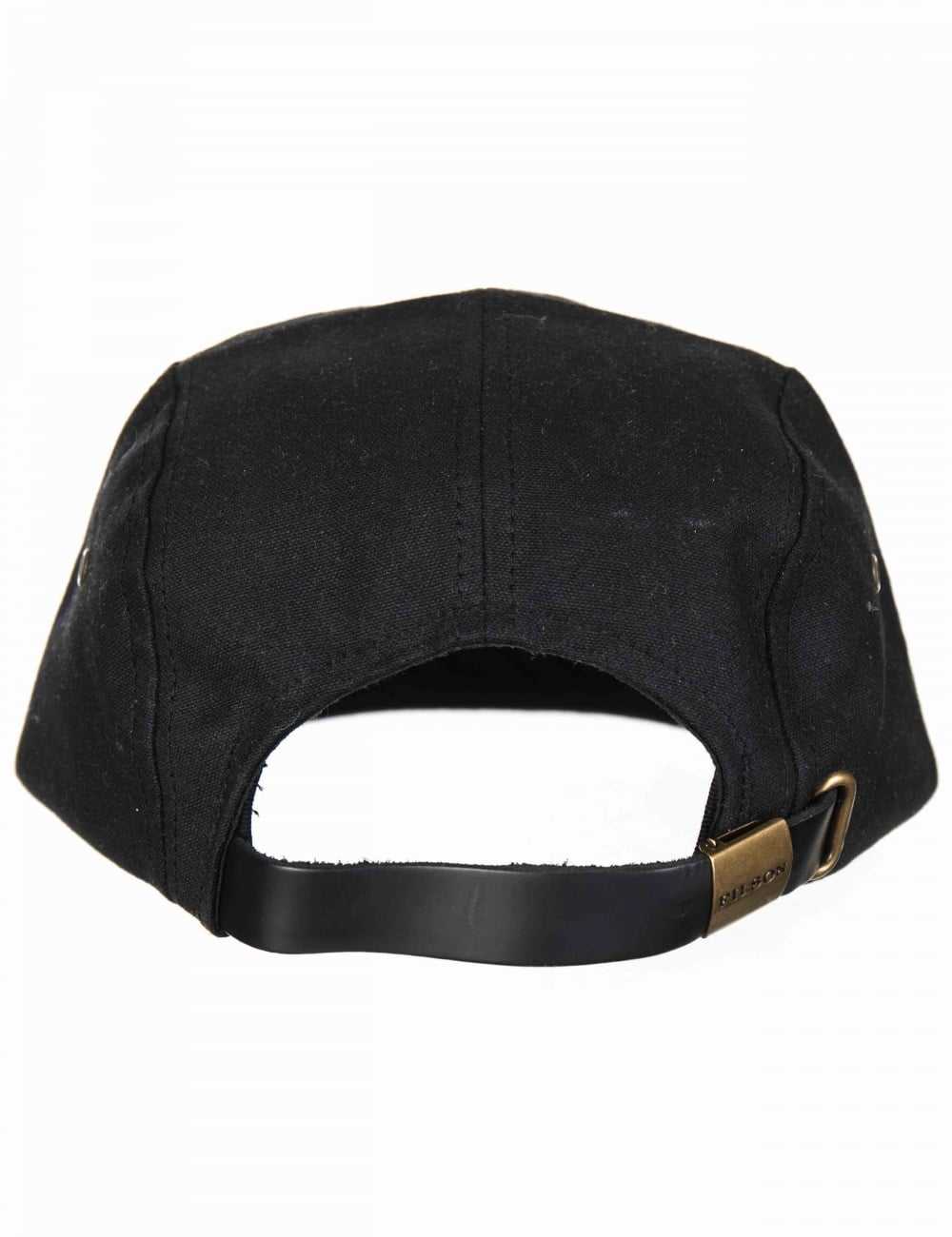 3d33f1fbfd4e0 Filson Waxed Leather Patch 5 Panel Hat - Black - Hat Shop from Fat ...