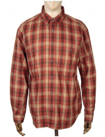 Filson Wildwood Shirt - Brick/Dune (Alaska Fit)