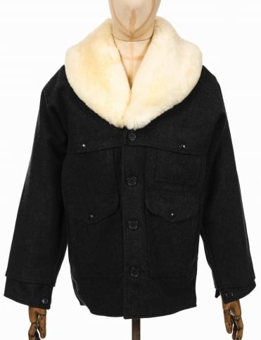 Wool Packer Coat - Charcoal